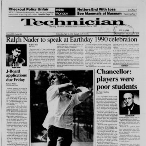 Technician, Vol. 71 No. 84, April 18, 1990