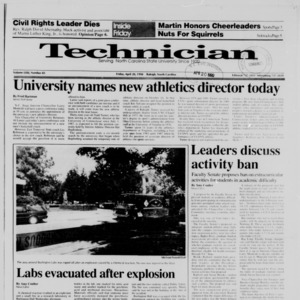 Technician, Vol. 71 No. 85, April 20, 1990