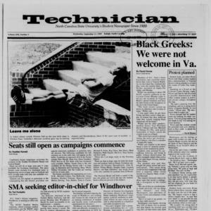 Technician, Vol. 71 No. 9, September 13, 1989