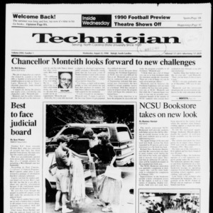 Technician, Vol. 72 No. 1, August 22, 1990