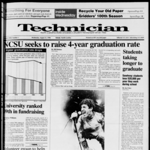 Technician, Vol. 72 No. 1, August 21, 1991