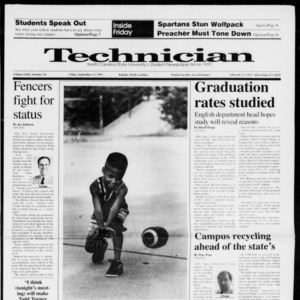 Technician, Vol. 72 No. 10, September 13, 1991