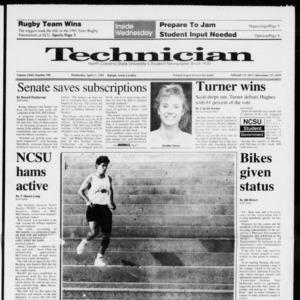 Technician, Vol. 72 No. 100, April 17, 1991