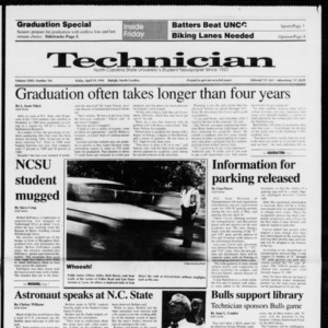 Technician, Vol. 72 No. 101, April 19, 1991