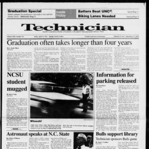Technician, Vol. 72 No. 101, April 19, 1991