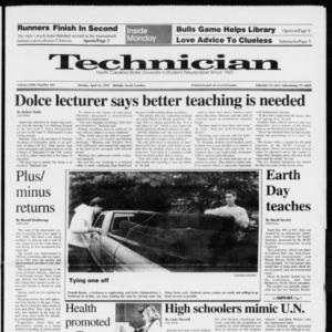 Technician, Vol. 72 No. 102, April 22, 1991