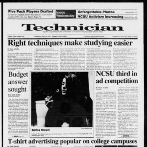 Technician, Vol. 72 No. 103, April 24, 1991