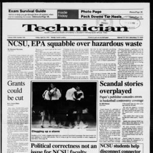 Technician, Vol. 72 No. 104, April 26, 1991