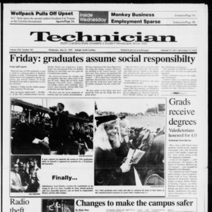 Technician, Vol. 72 No. 105, May 22, 1991