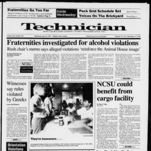 Technician, Vol. 72 No. 109, June 19, 1991