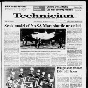 Technician, Vol. 72 No. 11, September 17, 1990