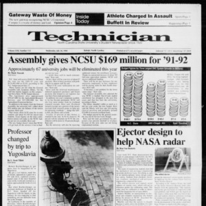 Technician, Vol. 72 No. 112, July 24, 1991