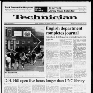 Technician, Vol. 72 No. 14, September 24, 1990
