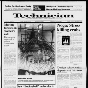 Technician, Vol. 72 No. 14, September 23, 1991