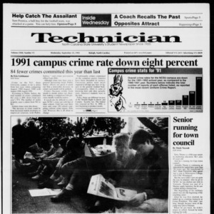 Technician, Vol. 72 No. 15, September 25, 1991