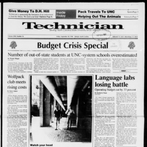 Technician, Vol. 72 No. 16, September 28, 1990
