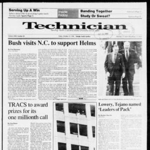 Technician, Vol. 72 No. 22, October 12, 1990