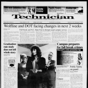 Technician, Vol. 72 No. 22, October 11, 1991
