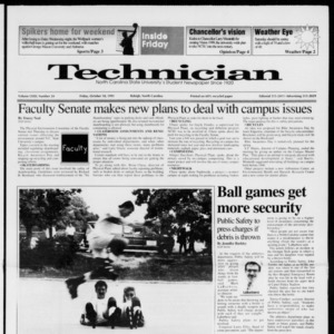 Technician, Vol. 72 No. 24, October 18, 1991