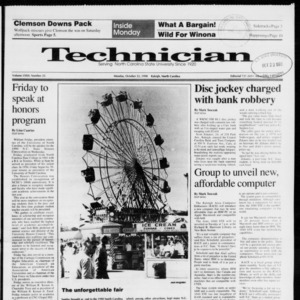Technician, Vol. 72 No. 25, October 22, 1990