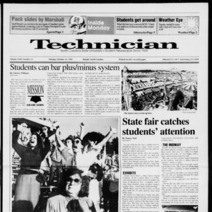 Technician, Vol. 72 No. 25, October 21, 1991
