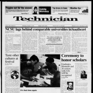 Technician, Vol. 72 No. 26, October 23, 1991