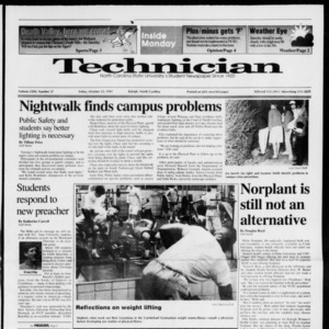 Technician, Vol. 72 No. 27, October 25, 1991