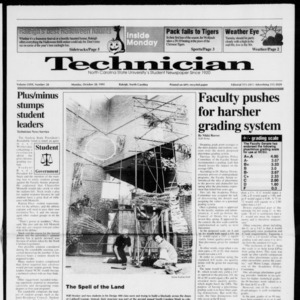 Technician, Vol. 72 No. 28, October 28, 1991