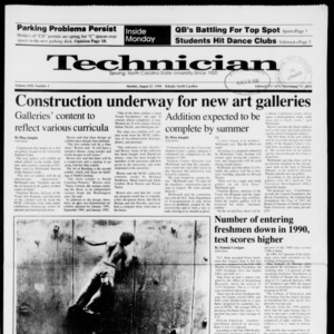Technician, Vol. 72 No. 3, August 27, 1990