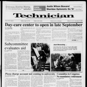 Technician, Vol. 72 No. 3, August 26, 1991