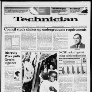 Technician, Vol. 72 No. 30, November 1, 1991