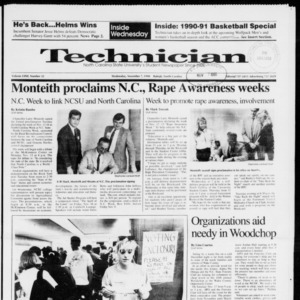 Technician, Vol. 72 No. 32, November 7, 1990