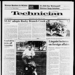 Technician, Vol. 72 No. 33, November 9, 1990