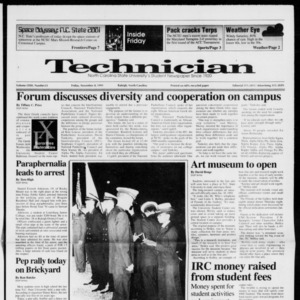 Technician, Vol. 72 No. 33, November 8, 1991