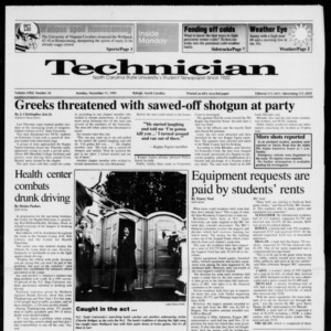 Technician, Vol. 72 No. 34, November 11, 1991