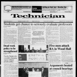 Technician, Vol. 72 No. 35, November 13, 1991