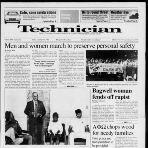 Technician, Vol. 72 No. 36, November 15, 1991