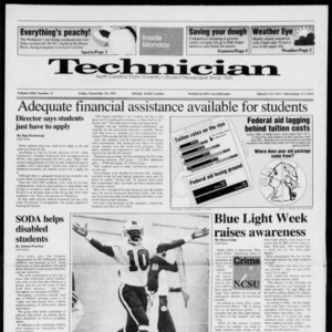 Technician, Vol. 72 No. 37, November 18, 1991