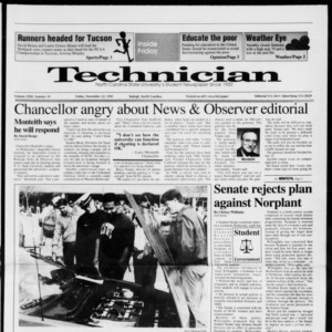 Technician, Vol. 72 No. 39, November 22, 1991