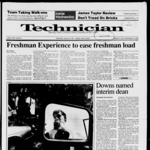 Technician, Vol. 72 No. 4, August 29, 1990