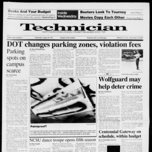 Technician, Vol. 72 No. 4, August 28, 1991
