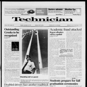 Technician, Vol. 72 No. 40, November 25, 1991