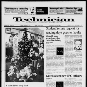 Technician, Vol. 72 No. 41, December 2, 1991