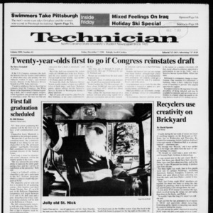 Technician, Vol. 72 No. 43, December 7, 1990