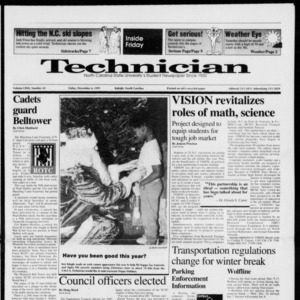 Technician, Vol. 72 No. 43, December 6, 1991
