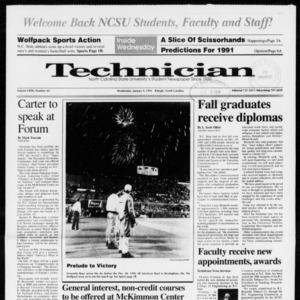 Technician, Vol. 72 No. 44, January 9, 1991