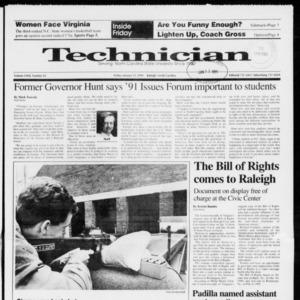 Technician, Vol. 72 No. 45, January 11, 1991