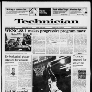 Technician, Vol. 72 No. 46, January 13, 1992