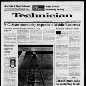 Technician, Vol. 72 No. 47, January 16, 1991