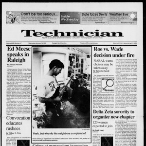 Technician, Vol. 72 No. 47, January 15, 1992